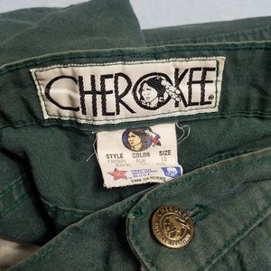 Vintage 80's Made in USA Cherokee Pants Green 10